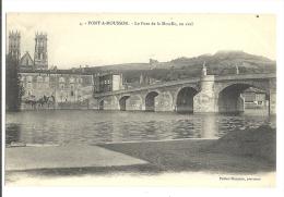 Cp, 54, Pont à Mousson, Le Pont De La Moselle, En Aval - Pont A Mousson