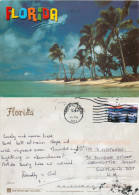 Palm Trees, Florida, United States US Postcard Posted 2011 Stamp - Etats-Unis