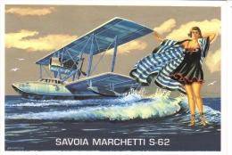 Savoia Marchetti S-62 Hydravion   -  1928   -  Art Carte Par Brovarone  -  CPM - 1919-1938: Entre Guerras