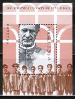 PL 2015 MI BL 242  200th Anniversary Of The Birth Of St. John Bosco - Blocks & Sheetlets & Panes