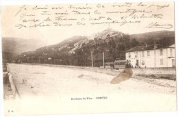 Contes  Environs De Nice  (  Gendarmerie , Train Tramway ) - Contes