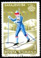ROMANIA 1984 Winter Olympic Games, Sarajevo - 1l  - Biathlon CTO - Usado