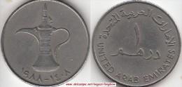 EMIRATI ARABI 1 Dirham 1988 KM#6.1 - Used - Emirati Arabi