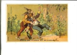 Chromo H.Laas 603 Ciel Or - Dans Les Vignes Du Seigneur 2 Lapins Ivres - Poulain