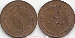 EMIRATI ARABI 5 Fils 1973 (F.A.O.) KM#2.1 - Used - Emirats Arabes Unis