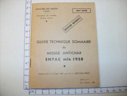 GUIDE TECHNIQUE du MISSILE ANTICHAR ENTAC 1958
