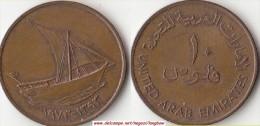 EMIRATI ARABI 10 Fils 1973 KM#3.1 - Used - Emirats Arabes Unis