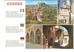 Cordes (sur Ciel Depuis 1993)-Multivues-Cité Moyenageuse-Village Préféré Des Français En 2014 - Cordes