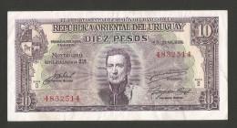 URUGUAY - 10 PESOS (1939) - El DEPARTEMENTO De EMISION Del BANCO De La REPUBLICA ORIENTAL Del URUGUAY - Uruguay