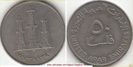 EMIRATI ARABI 50 Fils 1973 KM#5 - Used - Emirati Arabi