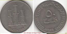 EMIRATI ARABI 50 Fils 1973 KM#5 - Used - Emirats Arabes Unis