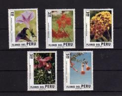 1972 - Peru - Yv. 580-584 - MNH - 057 - Plants