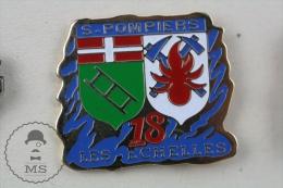 Sapeurs Pompiers Secteur 18 France - Les Echelles - Fireman Firefighter - Pin Badge #PLS - Bomberos