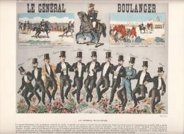 Gravure Du Général Boulanger - Vieux Papiers