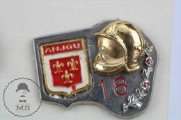 Anjou Sapeurs Pompiers Secteur 18 France - Fireman Firefighter - Pin Badge #PLS - Bomberos