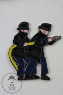 Sapeurs Pompiers France - Fireman Firefighter, Black Jackets - Pin Badge #PLS - Bomberos