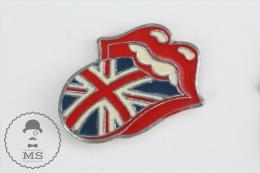 Rolling Stones England Flag Tongue - Pin Badge #PLS - Muziek