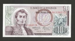 COLOMBIA - El BANCO De La REPUBLICA - 10 PESOS De ORO (1974) - NARINO - Colombia