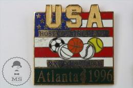 USA Host Country Of The XXVI Olympiad Atlanta 1996 Pin Badge #PLS - Juegos Olímpicos
