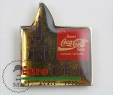 Euro Disney 1992 Coca Cola Advertising  Pin Badge #PLS - Disney