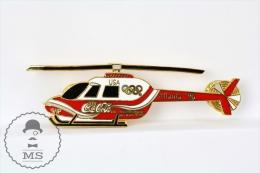 Atlanta 1996 Olympic Games VIP Helicopter USA - Coca Cola Advertising  Pin Badge - Juegos Olímpicos