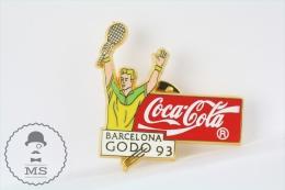 Barcelona GODO 1993 Tennis - Coca Cola Advertising Pin Badge - Coca-Cola