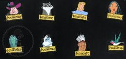 10 Walt Disney Pocahontas Characters Pin Badge - Disney
