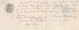 Lettre Change Manuscrite 25/10/1894 Filigrane Papier Timbré 1893  Clermont Ferrand Puy De Dôme à Paulhaguet Haute Loire - Bills Of Exchange