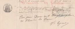 Lettre Change Manuscrite 2/11/1913  Filigrane République Française 1911  De Libourne Gironde - Bills Of Exchange