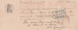 Lettre Change Manuscrite 20/6/1914  Filigrane République Française 1912  De Libourne Gironde - Bills Of Exchange