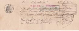 Lettre Change Manuscrite  Du 1/4/1914 Pour 30/6/1914 Filigrane République Française 1913  De Libourne Gironde - Bills Of Exchange