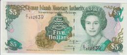 Cayman Island 5 Dollars 2005 Pick 34a UNC