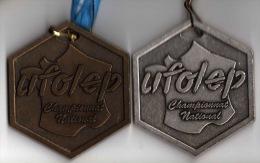 Lot De 2 Médailles : U.F.O.L.E.P. Championnat National - Unclassified