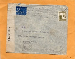 Palestine 1945 Cover Mailed To USA - Palestine