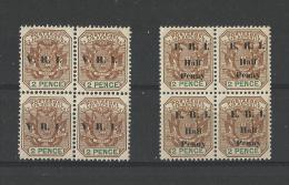 TRANSVAAL - LOT 2 BLOCS 4 TIMBRES SURCHARGES NEUFS* - VOIR SCAN - Stamps