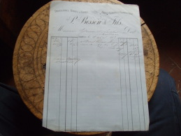 Facture 1883 Chalons Sur Saone Besson Droguerie - 1800 – 1899