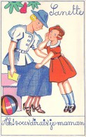 ENFANTS ( Musique Partition ) Air : AH ! Vous Dirais-je Maman ... CPA Colorisée ( Carte Pub SANA BEBE Et SANETTE ) - Unclassified