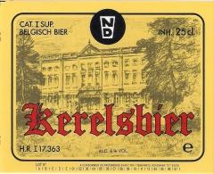 Etiquette Bière Belge. . Brasserie LEROY.  Boezinge.  Kerelsbier. 25cl.  Neuve - Bière