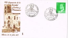 14334. Carta Exposicion BLANES (gerona) 1977. Iglesia Parroquial - 1931-Hoy: 2ª República - ... Juan Carlos I