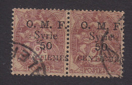 French Syr, Scott #59, Used, French Stamp Surcharged, Issued 1920 - Used Stamps