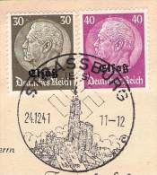 MiNr.11+12 SST Stassburg Auf Briefstück  Deutsches Reich Besetzte Gebiete Elsass - Occupazione 1938 – 45