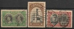 Timbres - Amérique - Canada - 1939 - Lot De 3 Timbres - - Sin Clasificación