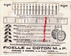 75017- 75 - PARIS - BUVARD FICELLE DE COTON M & P- MARANDE & PREISSIG -35 RUE JOUFFROY- JUTE CHANVRE- - Carte Assorbenti