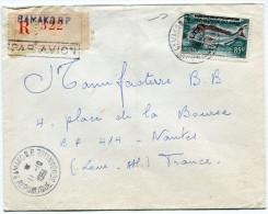 MALI LETTRE RECOMMANDEE PAR AVION DEPART BAMAKO 11-10-1961 REPUBLIQUE SOUDANAISE POUR LA FRANCE - Mali (1959-...)