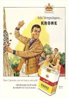 Reklame Cigarette KRONE X 2 - Dokumente