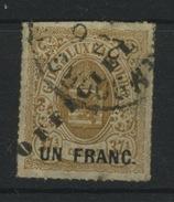 Service 1 Franc / 37,5   Yv. S.23 Ø, Cote 130 €, - Dienstpost