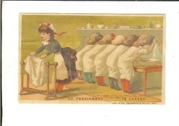 Lith Et Imp Vieillemard & Ses Fils Sur Fond Or  : Au Pensionnat - Le Lavabo - Poulain