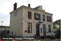 Gare De Villiers - Neauphle - Pontchartrain , Département Des Yvelines - Une Photo Reproduit Carte Postale  10x15 Cm. - Stations Without Trains