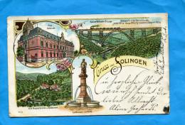 POSEN -REGRUSS Aus SOLINGEN--illustrée  Multi Vues  A Voyagé En 1902 - Solingen