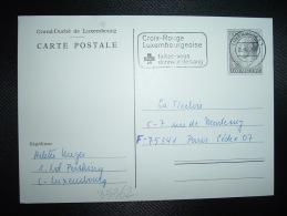 CP ENTIER 5F OBL.MEC.20-4-77 LUXEMBOURG 1 + CROIX-ROUGE LUXEMBOURGEOISE FAITES-VOUS DONNEUR DE SANG - Rotes Kreuz